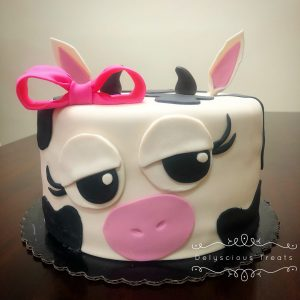 cow cake fondant chocolate mocha buttercream cake art birthday celebrate